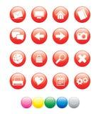 красный цвет иконы ball01 Стоковое Фото