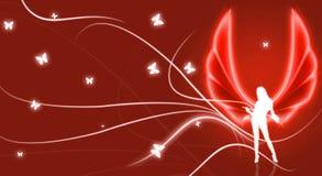 красный цвет иллюстрации ангела Стоковое Изображение RF