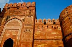 красный цвет Индии форта agra Стоковое Фото