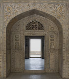 красный цвет Индии форта burj agra musamman Стоковое Изображение