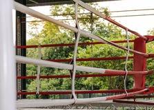 Красный цвет и белизна цвета арены бокса Стоковая Фотография