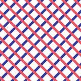 Красный цвет и голубой дизайн проверки Стоковое фото RF