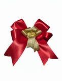 Красный цвет и лента золота на белизне Стоковое Изображение RF