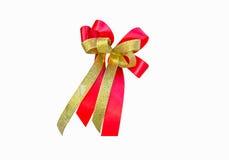 Красный цвет и лента золота одно Стоковое Изображение