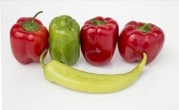 Красный цвет и зеленый цвет Стоковые Фотографии RF