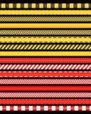 Красный цвет и ленты rad иллюстрация штока