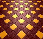 Красный цвет и мозаика золота Стоковое фото RF