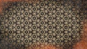Красный цвет и предпосылка цветочного узора Брауна винтажная иллюстрация штока