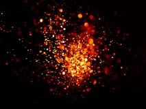 Красный цвет и предпосылка праздничного рождества золота элегантная абстрактная с светами bokeh Стоковая Фотография