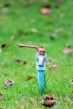 Красный цвет и синь Faucet Стоковая Фотография RF