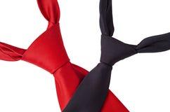 Красный цвет и черные галстуки Стоковое фото RF