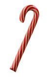Красный цвет и Striped зеленым цветом тросточка конфеты Стоковые Фото