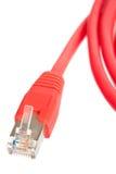 красный цвет кабельной сети Стоковая Фотография