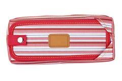 красный цвет карандаша случая Стоковая Фотография