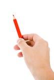 красный цвет карандаша Стоковая Фотография