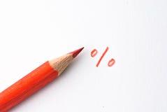 красный цвет карандаша стоковое изображение rf
