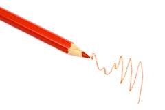 красный цвет карандаша Стоковое фото RF