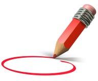 красный цвет карандаша иллюстрация штока