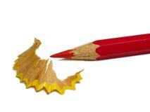 красный цвет карандаша Стоковое Изображение