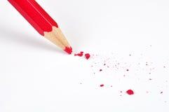 красный цвет карандаша Стоковые Изображения