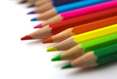 красный цвет карандаша Стоковая Фотография RF