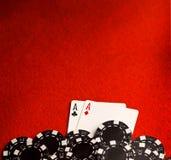 красный цвет карманн войлока тузов Стоковые Изображения