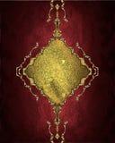 красный цвет картины золота предпосылки Элемент для конструкции Шаблон для конструкции скопируйте космос для брошюры объявления и Стоковая Фотография RF