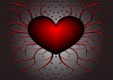 красный цвет картины 5 сердец Стоковые Фотографии RF