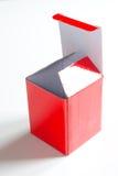 красный цвет картона коробки Стоковое фото RF