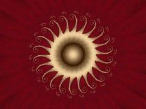 красный цвет карточки Стоковые Изображения