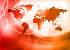 красный цвет карты Стоковое Фото