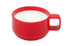 красный цвет кефира чашки Стоковая Фотография RF