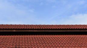 Красный цвет кирпича крыши Стоковые Фотографии RF