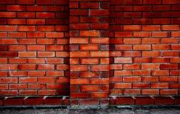 красный цвет кирпича текстурирует стену Стоковые Изображения