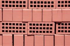 красный цвет кирпичей Стоковое Фото