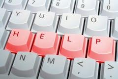 красный цвет клавиатуры помощи Стоковое Фото