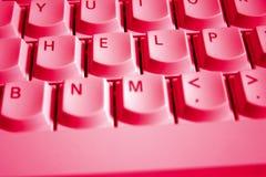 красный цвет клавиатуры помощи Стоковые Изображения