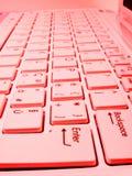 красный цвет клавиатуры Стоковое Фото