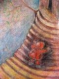 красный цвет клобука, котор побежали вверх Стоковые Изображения