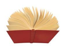 красный цвет книги открытый Стоковые Изображения