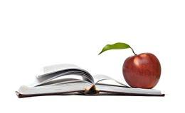 красный цвет книги яблока открытый Стоковое Изображение RF