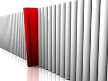 красный цвет книги Стоковое фото RF