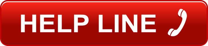Красный цвет кнопки сети горячей линии иллюстрация штока