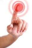 красный цвет кнопки стоковые фотографии rf