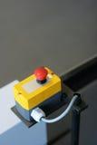 красный цвет кнопки Стоковые Изображения