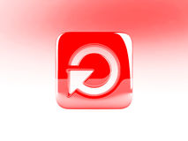 красный цвет кнопки Стоковые Изображения RF
