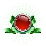 красный цвет кнопки Стоковая Фотография