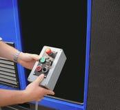 красный цвет кнопки Стоковое Изображение RF