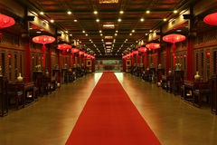 красный цвет ковра востоковедный Стоковые Фото