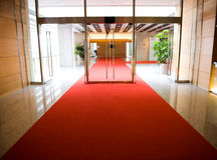 красный цвет ковра Стоковые Изображения RF